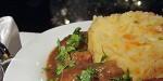 Деревенское овощное пюре с тушеным мясом
