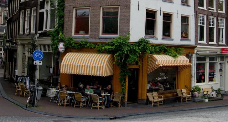 Villa Zeezicht. Кафе на Сингл канале (Амстердам)