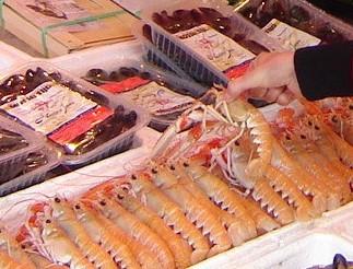 Albert Heijn. Поесть морепродукты (Амстердам)