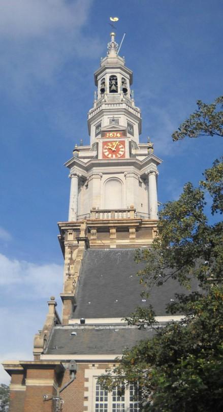 Южная церковь. Изящная колокольня и, собственно, всё (Амстердам)