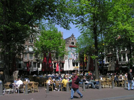 Площадь Лейдсеплейн. Амстердам