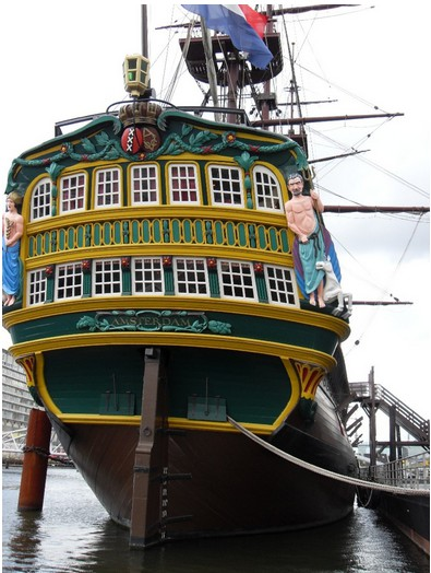 На кораблике по каналам Амстердама